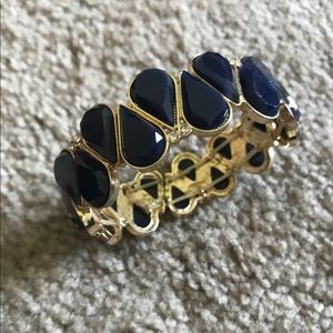 Francesca's navy and gold bracelet
